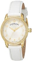 Stuhrling Original Women's 651.01 Symphony Analog Display Swiss Quartz White Watch