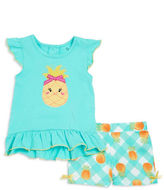 Nannette Baby Girls Pineapple Tunic and Shorts Set