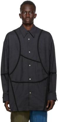 NAMESAKE Black Panel Shirt