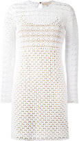 MICHAEL Michael Kors crochet bodycon dress - women - Cotton/Polyester - S