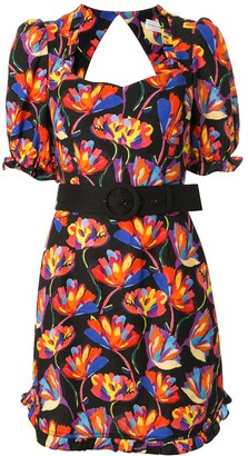 Rebecca Vallance Cintia floral belted dress