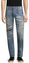 Scotch & Soda Ralston Ripped Straight Fit Cotton Jeans