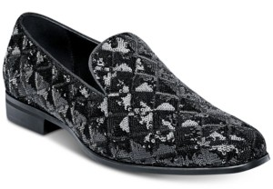 Stacy Adams Swank Sequined Fabric Slip-On Shoes Men's Shoes