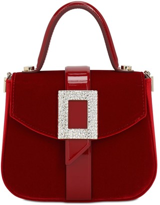 Roger Vivier Beau Vivier Velvet Top Handle Bag