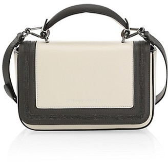 Brunello Cucinelli Monili-Trimmed Colorblock Leather Crossbody Bag