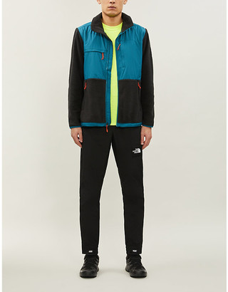 The North Face Denali colour-blocked funnel-neck fleece jacket