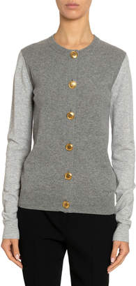 Givenchy Cashmere Golden-Button Cardigan