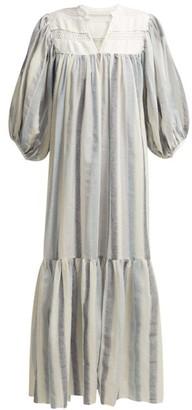 Binetti Love Light My Fire Cotton Dress - Womens - Blue Stripe