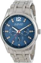 August Steiner Men's AS8068BU Crystal Multi-Function Quartz Bracelet Watch