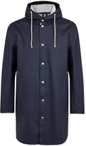 Stutterheim Göteborg Navy Rubberised Raincoat