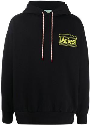 Aries Logo Drawstring Hoodie