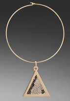 Roman Luxe Python Triangle Necklace
