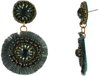 BIJOUX BAR Bijoux Bar Green Drop Earrings