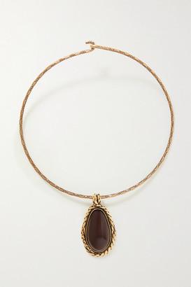 Alexander McQueen Gold-tone Garnet Choker - one size