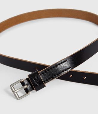 AllSaints Zeph Leather Belt