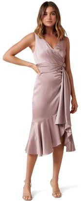 Forever New Petite Gracelyn Satin Wrap Petite Midi Dress