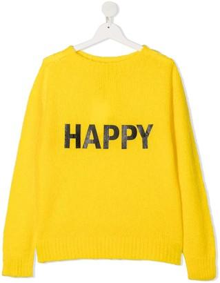 Twin-Set TEEN Happy-print jumper