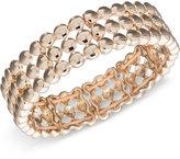 Nine West Gold-Tone Three-Row Stretch Bracelet