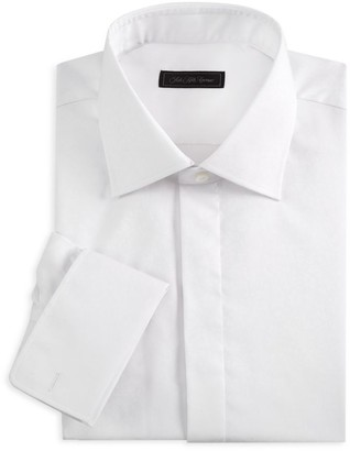 Saks Fifth Avenue COLLECTION Tonal Floral Tuxedo Shirt