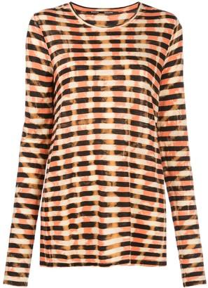 Proenza Schouler striped tie-dye T-shirt