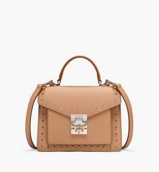 MCM Patricia Satchel in Studded Park Ave Leather