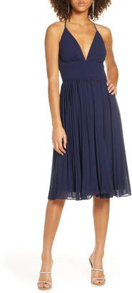 Lulus Love Me to the Moon Pleated Cocktail Dress