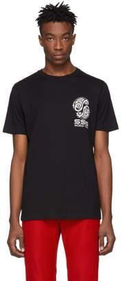 SSS World Corp Black Graphic Logo T-Shirt