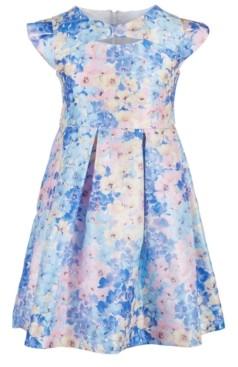 Bonnie Jean Toddler Girls Floral-Print Cap-Sleeve Dress