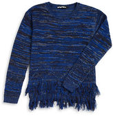 Planet Gold Girls 7-16 Metallic Fringe Sweater