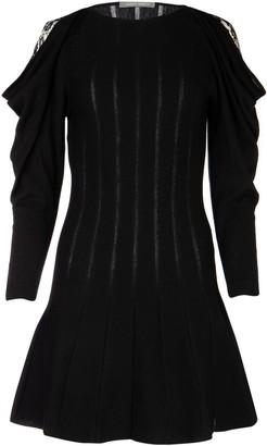 Alberta Ferretti Ruffled Sleeve Mini Dress