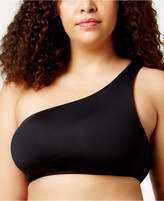 Becca Etc Plus Size Making The Cut Asymmetrical One-Shoulder Bikini Top
