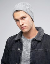 Selected Homme Beanie In Cable Knit