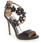 Badgley Mischka Women's 'Langley' Floral Applique Sandal