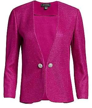 St. John Women's Textured Metallic Inlay Knit Jacket