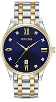 Bulova Two-Tone Diamonds Watch, 40mm