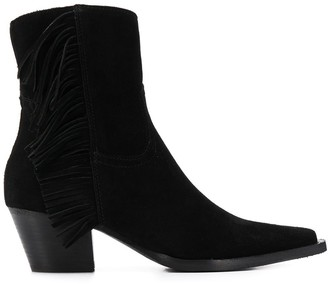 Pinko Cowboy fringed ankle boots