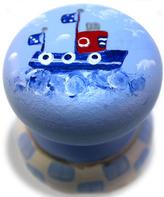 Sandy Toes Tugboat Knob