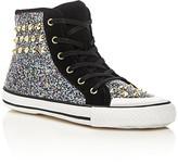 Ash Girls' Lita Monroe Glitter Studded High Top Sneakers - Little Kid, Big Kid