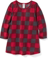 Old Navy Check-Print Sleep Dress for Toddler & Baby