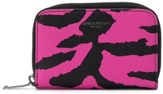 Saint Laurent Animal Print Compact Wallet