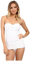 Tommy Bahama Pearl Shirred Front Bandeau One-Piece