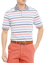 Daniel Cremieux Stripe Stretch Pique Short-Sleeve Polo Shirt