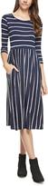 Navy Stripe Pocket Dress