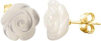 Mother of Pearl Splendid Pearls 14K 10Mm Mother-Of-Pearl Flower Studs