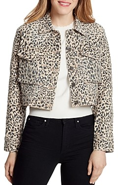 Ella Moss Leopard Print Denim Jacket
