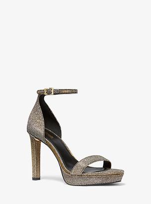 Michael Kors Margot Glitter Chain Mesh Platform Sandal