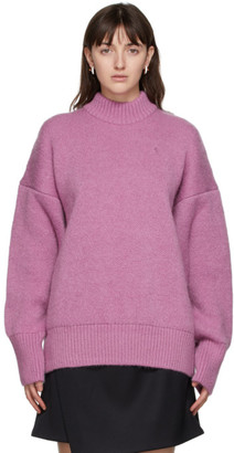 ATTICO Pink Mohair Oversized Sweater