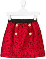 Dolce & Gabbana floral jacquard skirt - kids - Silk/Polyester/Acetate/Viscose - 10 yrs