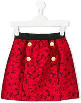 Dolce & Gabbana floral jacquard skirt - kids - Viscose/Acetate/Polyester/Silk - 6 yrs