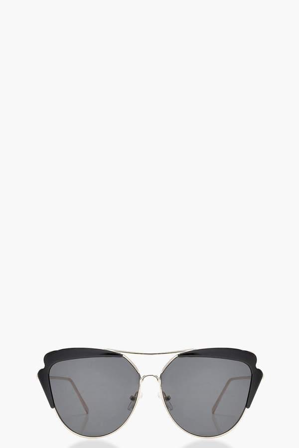 boohoo Cat Eye Brow Bar Sunglasses